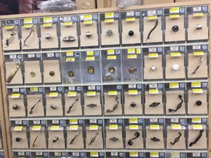 A selection of drawer handles